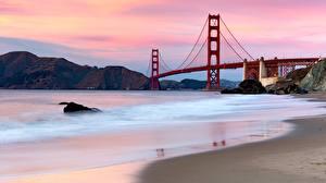 Wallpaper Bridges USA San Francisco Bay Golden Gate Bridge Nature