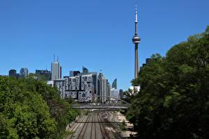 Hintergrundbilder Kanada Haus Türme Toronto Städte