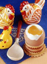 Bilder Haushuhn Spielzeug Ei Löffel das Essen