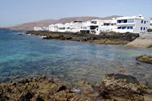 Bilder Küste Stein Spanien Insel Kanarische Inseln Lanzarote Städte