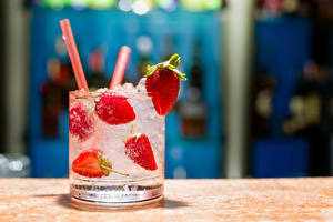 Image Drinks Strawberry Highball glass Ice Food
