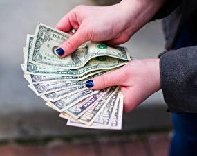 Image Fingers Dollars Money Banknotes Hands Manicure