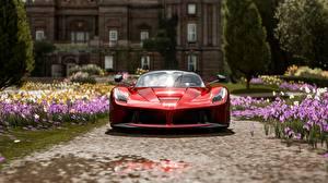 Fondos de Pantalla Forza Horizon 4 Frente Rojo Metálico Ferrari Scuderia Italia Coches 3D_Gráficos
