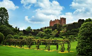 Photo Gardens Park Castle Wales Kingdom Of Powis, Powis castle Cities
