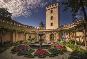 Fotos Deutschland Burg Springbrunnen Design Stolzenfels Castle near Koblenz Städte