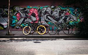 Images Graffiti Walls Street Bicycle Cities