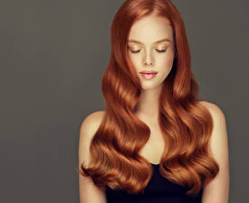 Hintergrundbilder Grauer Hintergrund Rotschopf Haar Schöne Frisur