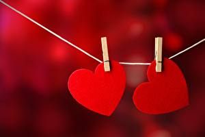 Fondos de Pantalla Corazón Rojo 2 Pinza de ropa
