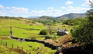 Fotos Haus Grünland Vereinigtes Königreich Parks Hügel Wales Snowdonia national Park Natur