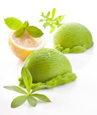 壁纸,,冰淇淋,柠檬,白色背景,球,2 兩,黃綠色,綠色,食物