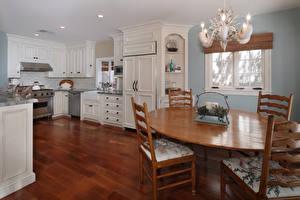 Wallpapers Interior Design Kitchen Chandelier Table Chair