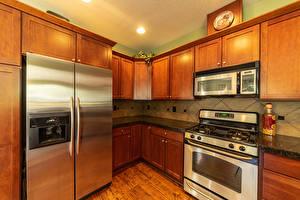 Photo Interior Design Kitchen Fridge