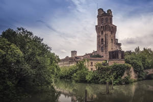 Wallpaper Italy Building River Bush Towers Astronomical Observatory Padova Cities