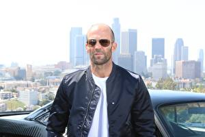 Pictures Jason Statham Jacket Glasses Bald Celebrities