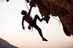 Wallpapers Man Mountaineering Crag Climber Sport