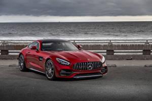 Fondos de Pantalla Mercedes-Benz Rojo 2020 AMG GT C Coches