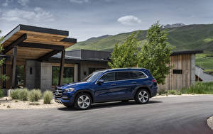 Image Mercedes-Benz Blue Metallic 2020 GLS 450 4MATIC Cars