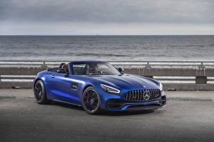 Fotos Mercedes-Benz Blau Roadster 2020 GT C Roadster