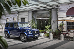 Picture Mercedes-Benz G-Wagen Sport utility vehicle Blue Metallic 2019 G 400 d AMG Line Stronger Than Time Worldwide automobile