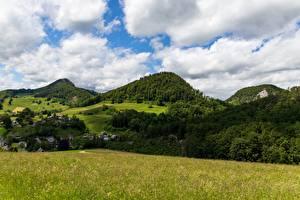 Bilder Gebirge Wald Schweiz Landschaftsfotografie Gras Canton of Basel-Landschaft Natur
