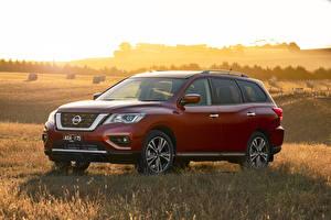 Fondos de Pantalla Nissan Rojo 2017-19 Pathfinder Ti Coches