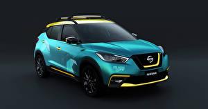 Fotos Nissan Grauer Hintergrund Hellblau 2019 Kicks Surf Concept