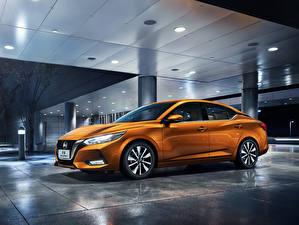 Bilder Nissan Orange Metallisch 2019 Sylphy China