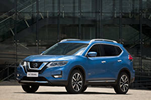 Bilder Nissan Hellblau Hybrid Autos Metallisch 2019 X-Trail Hybrid Latam