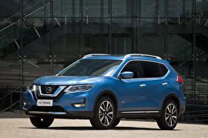 桌面壁纸,,日產汽車,天蓝色,混合動力車輛,金屬漆,2019 X-Trail Hybrid Latam,
