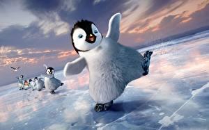 Hintergrundbilder Pinguine Happy Feet Eis