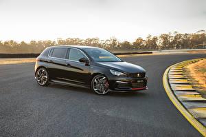 Fonds d'écran Peugeot Noir Métallique 2019 308 GTi Sport Voitures images