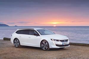 Fonds d'écran Peugeot Blanc 2019 508 SW GT Line Voitures images