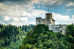 Wallpapers Poland Castle Forests Mountains Castle In Niedzica, Pieniny mountains Nature
