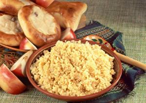 Photo Porridge Apples Tablecloth Millet porridge