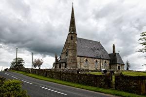 Bilder Wege Kirche Irland Zaun St Patrick's Church, Ballyclog, Tyrone County Städte