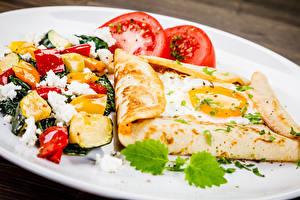 Hintergrundbilder Salat Gemüse Eierkuchen Frühstück Spiegelei