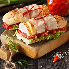 Bilder Sandwich Hautnah Wurst 2