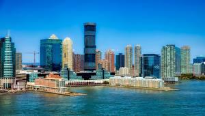 Sfondi desktop Grattacielo USA La casa Megalopoli Golfo Jersey city, New Jersey