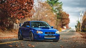 Sfondi desktop Subaru Blu colori Impreza STI