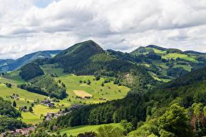 Fonds d'écran Suisse Montagnes Forêt Village Waldenburg County, Langenbruck, Basel Landschaft Nature