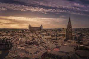 Hintergrundbilder Toledo Spanien Gebäude Dach Turm Städte