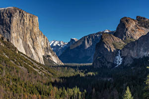 Wallpapers USA Parks Mountain Forest Landscape photography Yosemite Crag