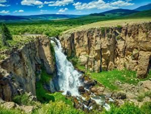 Papéis de parede EUA Rios Cachoeira Fotografia de paisagem Penhasco Colorado