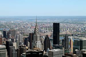 Hintergrundbilder USA Wolkenkratzer New York City Horizont Megalopolis Städte