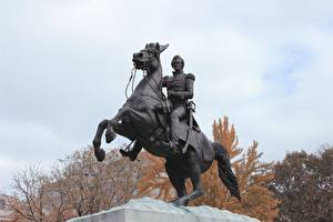 Pictures Washington, D.C. Monuments Horses USA district of Columbia, Lafayette Square Cities