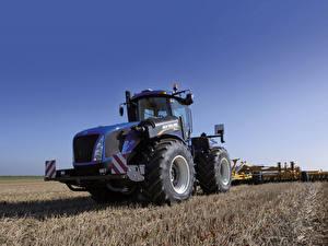 Fotos & Bilder Landwirtschaftlichen Maschinen Felder Traktor 2015-19 New Holland T9.565 Kinder