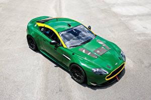 Fotos Aston Martin Metallisch Grün 2010-19 V8 Vantage GT4 automobil