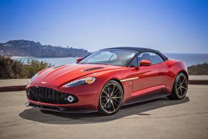 Fondos de Pantalla Aston Martin Rojo 2018 Vanquish Zagato Volante Coches
