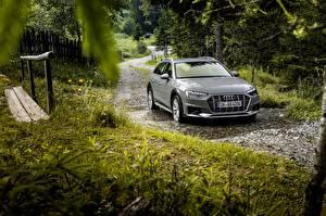 Hintergrundbilder Audi Graue Kombi Pfütze 2019 A4 Allroad Quattro automobil