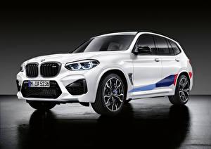 Bilder BMW Weiß Softroader 2019 X3 M M Performance Parts Worldwide Autos